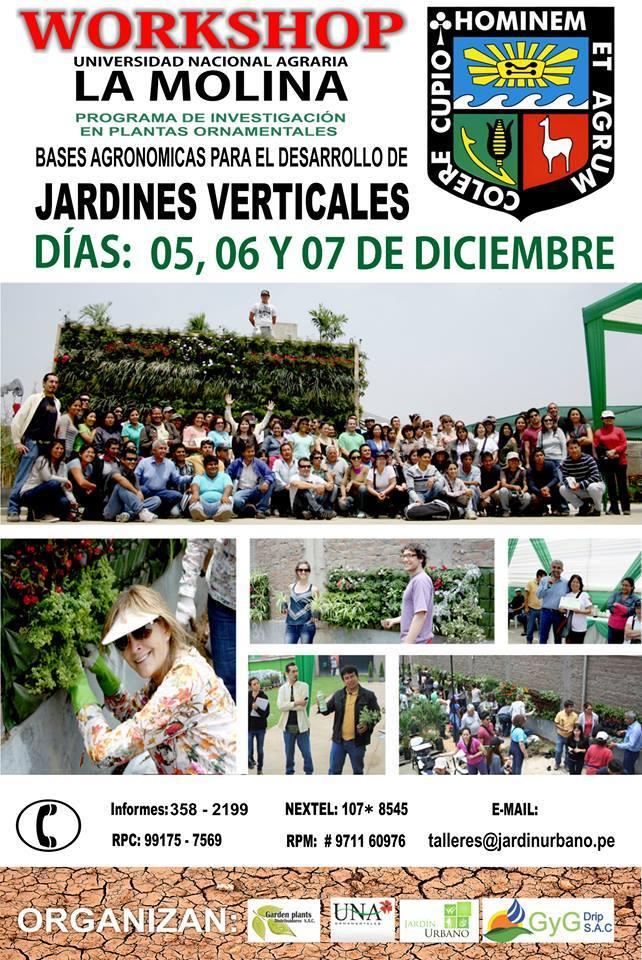 Workshop jardines verticales universidad agraria la molina for Accesorios para jardines verticales