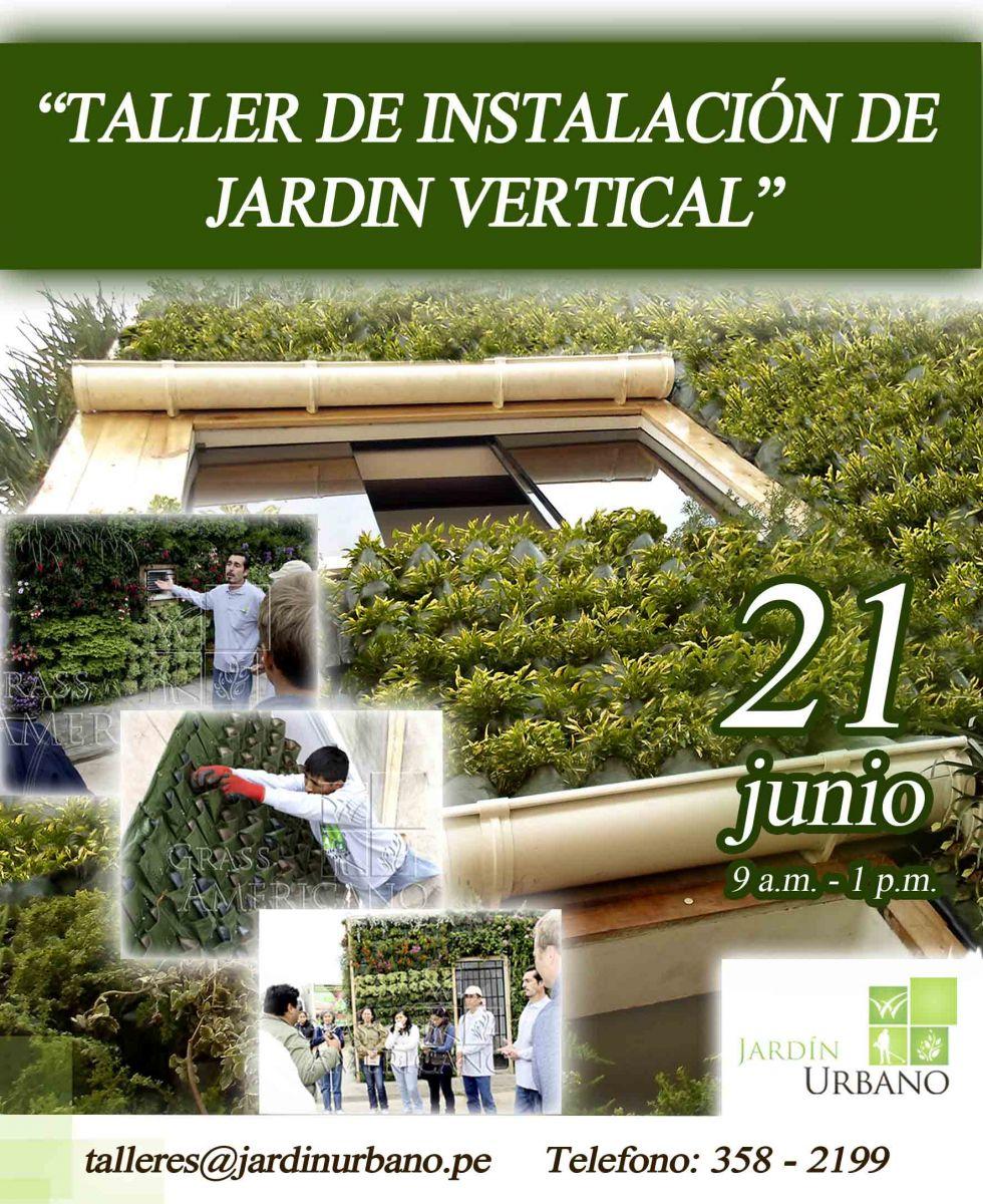 Taller de instalaci n de jard nes verticales vivero for Instalacion de jardines verticales